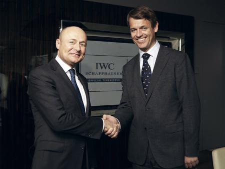 Georges Kern, CEO d'IWC Schaffhausen, et Knut Frostad, CEO de la Volvo Ocean Race.