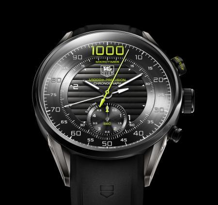 Le TAG Heuer Mikrotimer Flying 1000 Limited Edition : un chronographe capable de mesurer et d'afficher les millièmes de seconde.