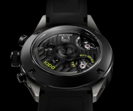 TAG Heuer Mikrotimer Flying 1000 Limited Edition. Vue de dos.