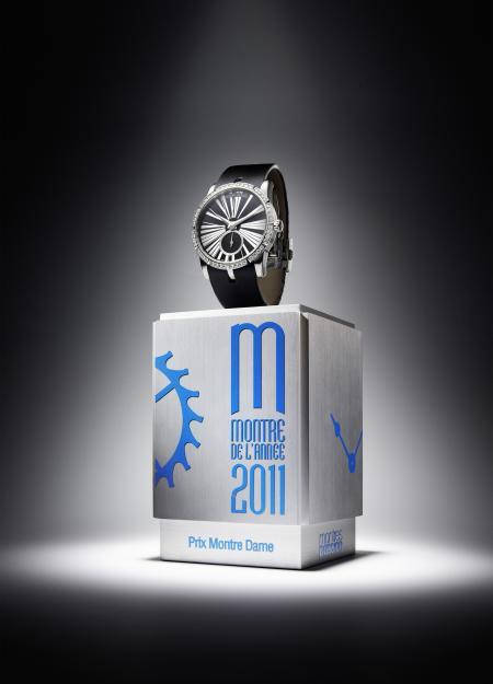 L'Excalibur Lady sur la première marche du podium : catégorie 'Montre Dame 2011'.