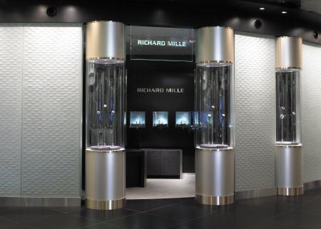 La boutique Richard Mille située dans le nouvel espace 'The Fine Watch Room' de chez Harrods.