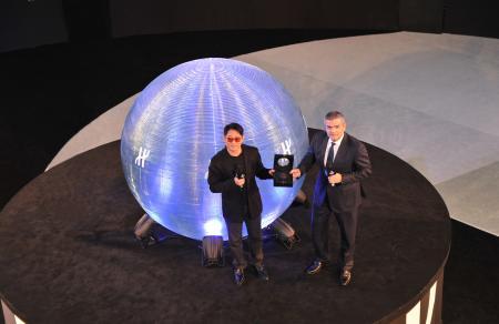Jet Li et Ricardo Guadaloupe - Directeur Général de Hublot - lors de la soirée de présentation de l'Aero Bang Jet Li.