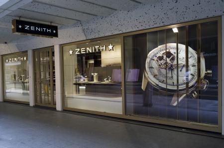 La devanture de la boutique Zenith au 35, rue du Rhône à Genève.
