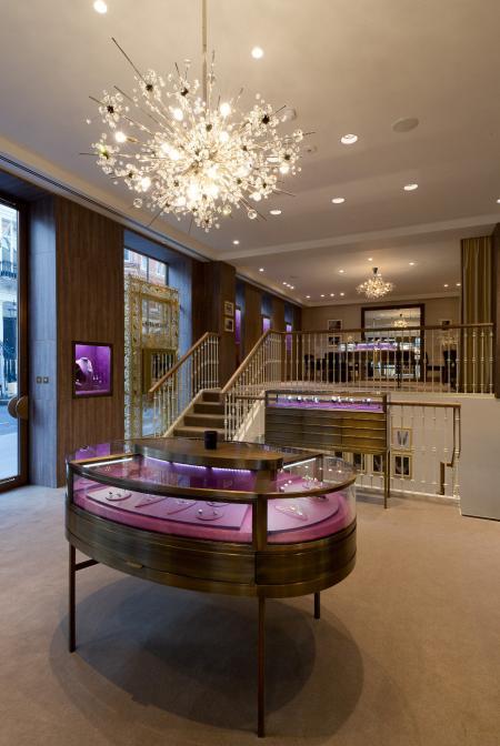La nouvelle boutique Boucheron de New Bond Street à Londres - Intérieur