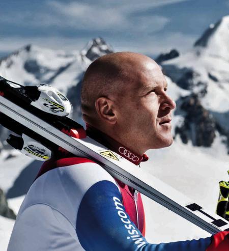 Didier Cuche, sportif d'élite et ambassadeur de Corum, élu Suisse de l'année 2011.