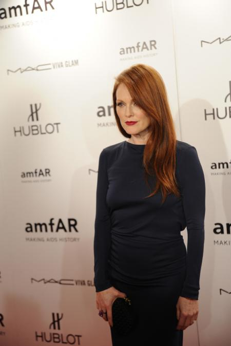 Julianne Moore - Gala amfAR à New York le 8 février.