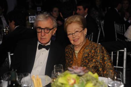 Le Docteur Mathilde Krim et Woody Allen - Gala amfAR à New York le 8 février.