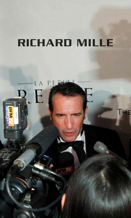 Jean Dujardin, oscar du meilleur acteur pour The Artist, lors de la soirée sponsorisée par Richard Mille. © Donato Sardella