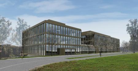 La future nouvelle Manufacture Offine Panerai de Neuchâtel.