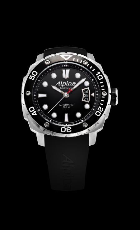 L'Alpina Extrême Diver : une montre de plongée étanche jusqu'à 300 mètres.
