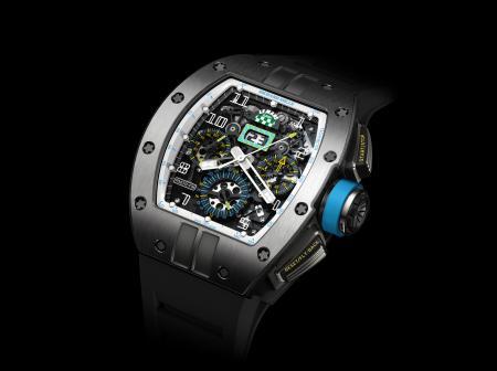 La montre chronographe automatique RM 011 LMC : une édition limitée à 150 pièces en titane.