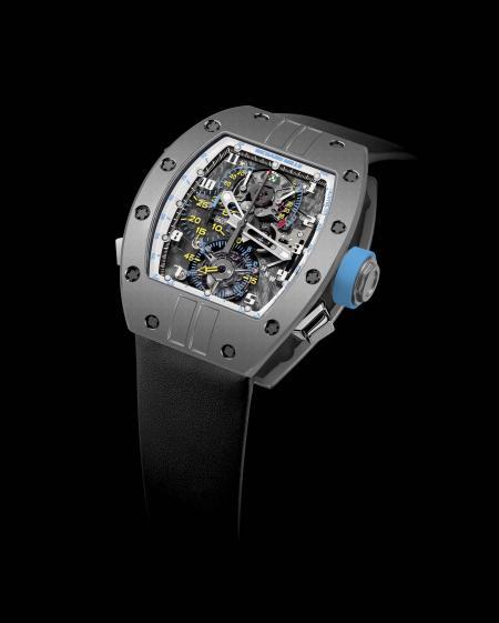 La montre tourbillon chronographe RM 008 LMC : une édition limitée à 2 pièces en titane.