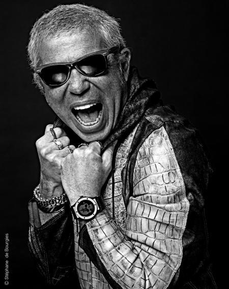 Laurent Picciotto avec la très rock Skull Bang d'Hublot. © Stéphane Bourgies