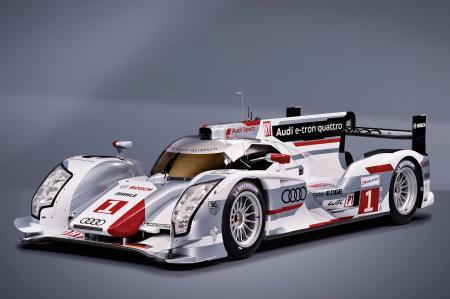 La voiture hybride Audi R-18 e-tron quattro sera au Mans en juin prochain.