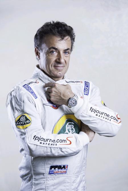 Jean Alesi avec le Centigraphe Sport de F.P. Journe.