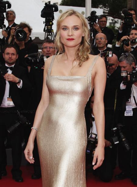 Diane Kruger portant une montre Jaeger-LeCoultre 101 Joaillerie.