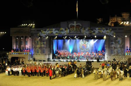 Cérémonie du Diamond Jubilee Pageant au château de Windsor.
