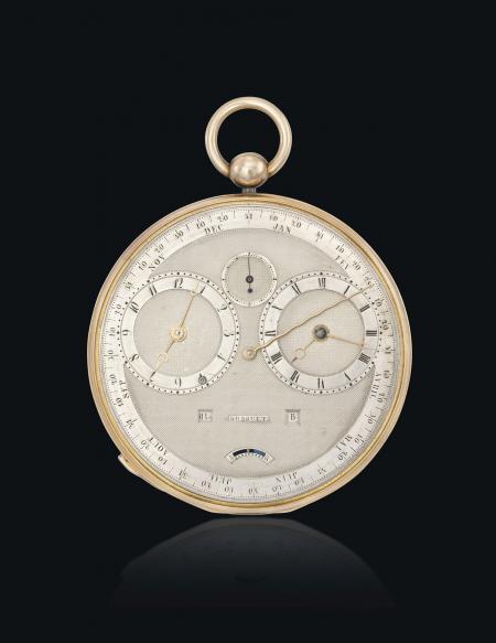 La Breguet n°4111 : une montre Grande Complication de 1827 (équation du temps, répétition, calendrier annuel et calendrier manuel perpétuel).