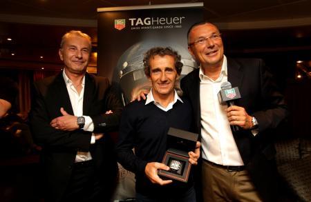 Michel Ferry, Alain Prost et Jean-Christophe Babin.
