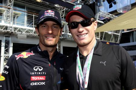 Mark Webber et Jimmy Spithill.