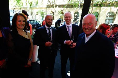 M. Jean-Claude Biver, CEO de Hublot, lors de l'inauguration de la boutique Hublot sur la prestigieuse avenue Andrassy à Budapest.