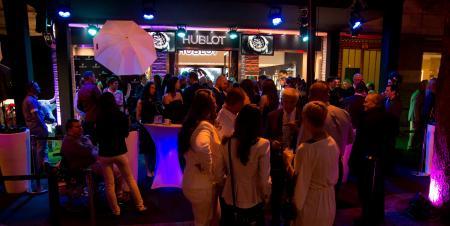 Inauguration de la boutique Hublot à Budapest.