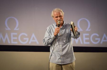Yann Arthus-Bertrand, co-réalisateur du film Planet Ocean, à l'avant-première à Rio.
