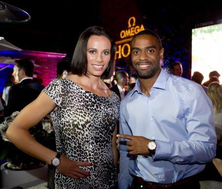 Jenn Suhr et Tyson Gay, ambassadeurs Omega.