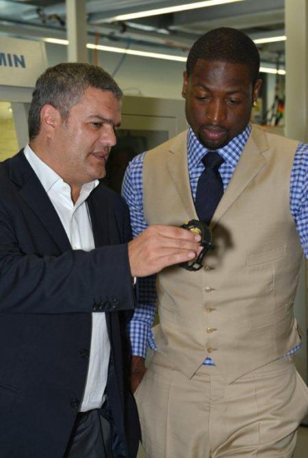 Dwyane Wade avec Ricardo Guadalupe, CEO de Hublot.
