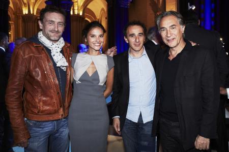 Les acteurs Jean-Paul Rouve, Virginie Ledoyen, Elie Semoun et Richard Berry lors de la soirée Zenith organisée pour la collection Pilot.