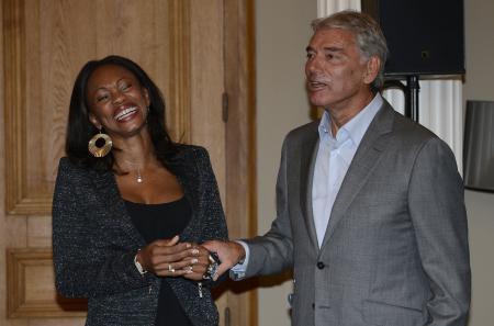 Laura Flessel et M. Jacot CEO de Parmigiani Fleurier ©DPPI