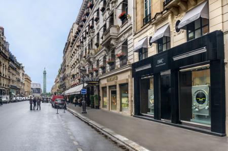 La boutique IWC au 15 rue de la Paix à Paris.