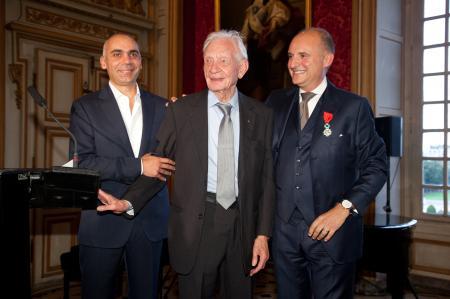 Bruno Belamich, Directeur de la Création de Bell & Ross, Helmut Sinn et Carlos-A.Rosillo.
