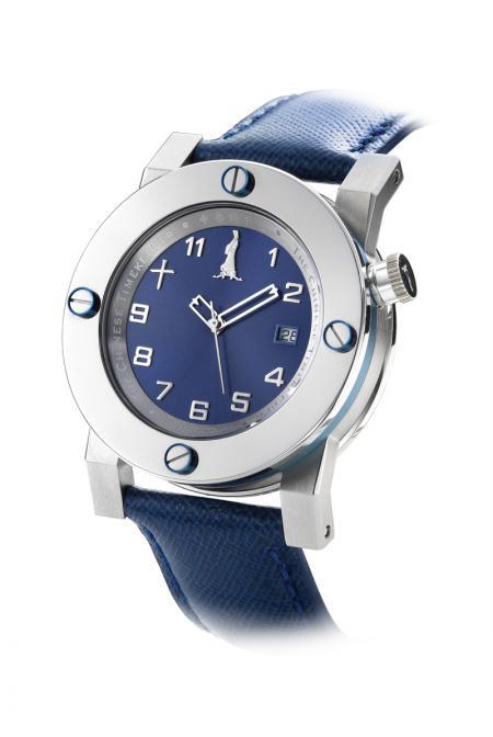 The Chinese watchmaker - montre en acier, automatique - cadran bleu
