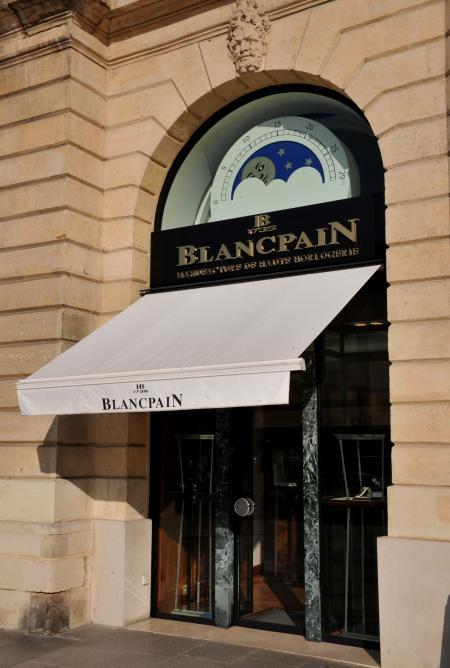 Boutique Blancpain de la place Vendôme à Paris