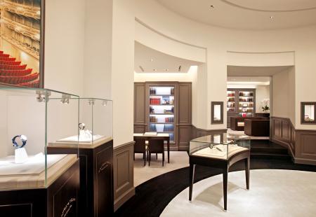 Intérieur de la boutique A.Lange & Söhne à Dubail.