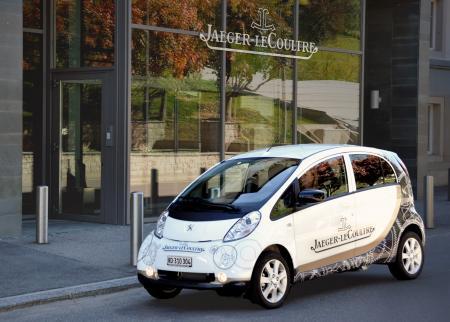 La voiture électrique acquise par Jaeger-LeCoultre pour ses collaborateurs.