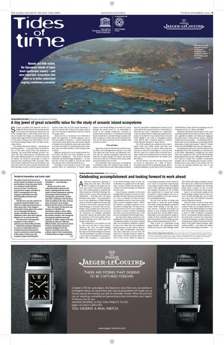 L'article Jaeger-LeCoultre/International Herald Tribune.