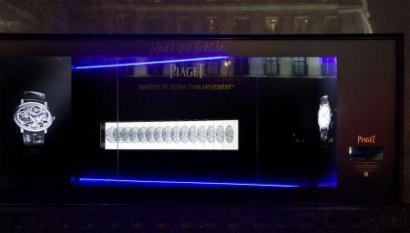 Piaget - Vitrine Digitale aux Galeries Lafayette Haussmann.