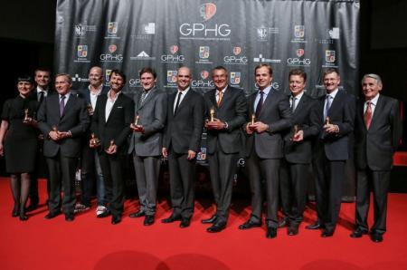 Les représentants des marques lauréates du Grand Prix d'horlogerie de Genève.