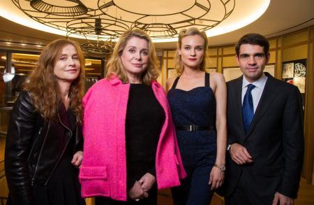 Isabelle Huppert, Catherine Deneuve, Diane Kruger et Jerome Lambert.