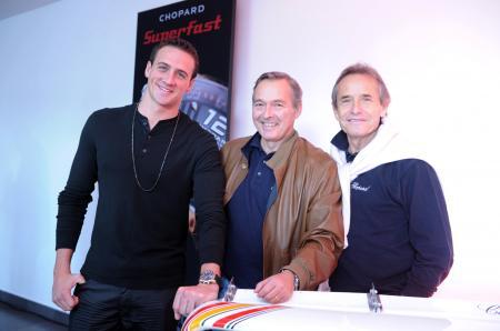 Ryan Lochte, Karl-Friedrich Scheufele et Jacky Ickx.