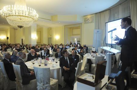 Prise de parole de Peter Stas, CEO de Frédérique Constant, lors de la cérémonie annuelle de l'European Tech Tour.