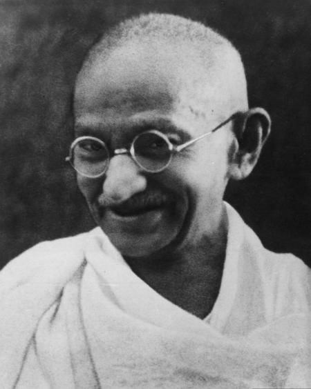 Le Mahatma Gandhi.