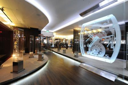 La boutique Richard Mille au Grand Hyatt Singapour : un espace de 200 m2.