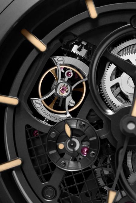 Panerai - Pocket Watch Tourbillon GMT Ceramica 59 mm - Détails tourbillon