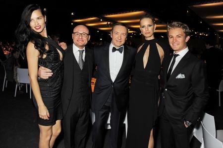 Adriana Lima, Georges Kern, Kevin Spacey, Karolina Kurkova, Nico Rosberg. ©Photopress/IWC