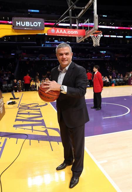 Ricardo Guadalupe, CEO de Hublot, sur le terrain.