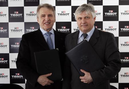 François Thiebaud, Président de Tissot, et Eric Saintrond, secrétaire général/CEO de la FISU.