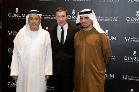 M. Abdul Hamied Seddiqi, Vice Chairman Ahmed Seddiqi & Sons – M. Antonio Calce, CORUM Partner et CEO – M. Mohammed Abdulmagied Seddiqi, VP Sales & Retail Ahmed Seddiqi & Sons.
